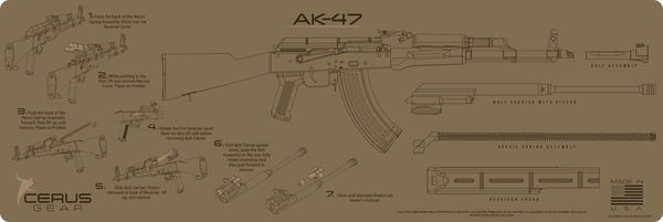 AK47 INSTRUCTIONAL PROMAT by CERUS GEAR