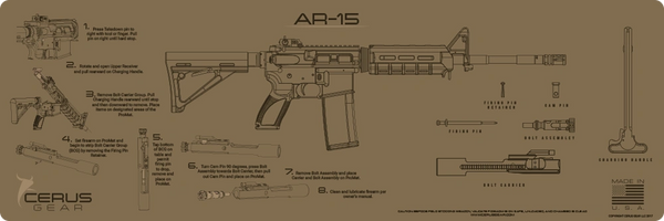 AR-15 INSTRUCTIONAL PROMAT by CERUS GEAR