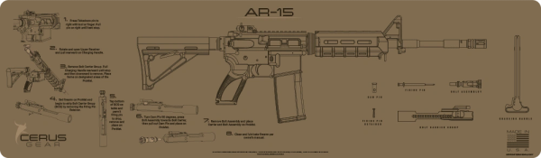 AR-15 INSTRUCTIONAL MAGNUM XXL PROMAT by CERUS GEAR