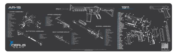 AR-15 & 1911 COMBO SCHEMATIC MAGNUM XXL PROMAT by CERUS GEAR