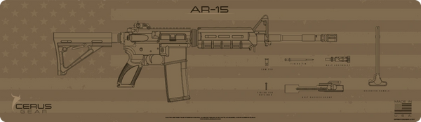AR-15 SHADOW BOARD MAGNUM XXL PROMAT by CERUS GEAR