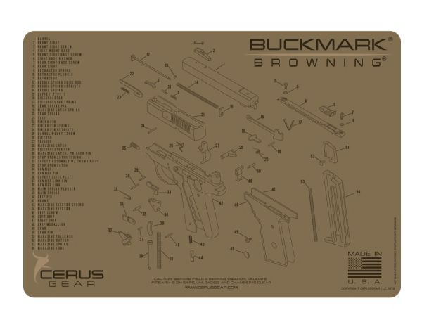 BROWNING® BUCKMARK® SCHEMATIC PROMAT by Cerus Gear