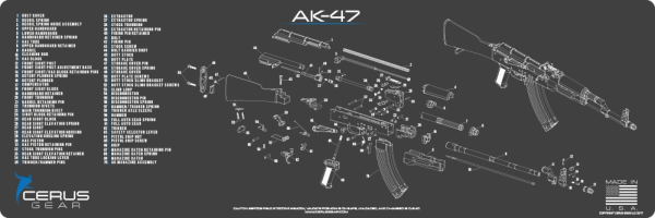 AK47 SCHEMATIC PROMAT by CERUS GEAR