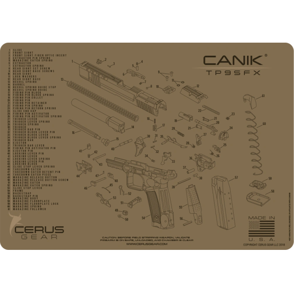 CANIK® TP9SFX SCHEMATIC PROMAT by Cerus Gear