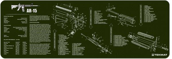 AR-15 RIFLE TEKMAT OLIVE DRAB GREEN