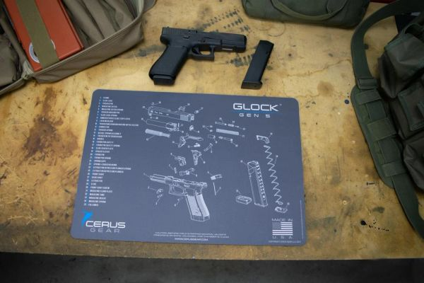 GLOCK GEN5 SCHEMATIC GUN CLEANING PROMAT by Cerus Gear