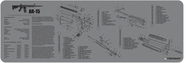 AR-15 RIFLE TEKMAT GREY