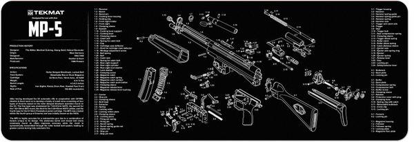 HECKLER & KOCH HK MP-5 9mm SUB MACHINE GUN TEKMAT