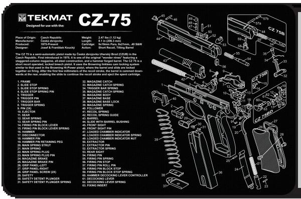 BRNO CZ75 9mm PISTOL TEKMAT