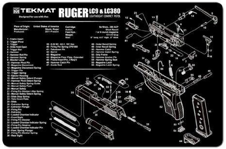 RUGER LC9 9mm PISTOL TEKMAT