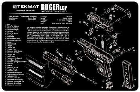 RUGER LCP 9mm PISTOL TEKMAT