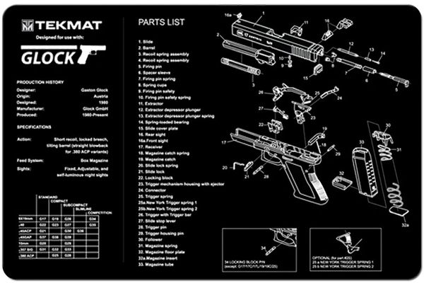 GLOCK 17 9mm PISTOL TEKMAT