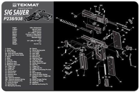 SIG SAUER P238 938 9mm PISTOL TEKMAT