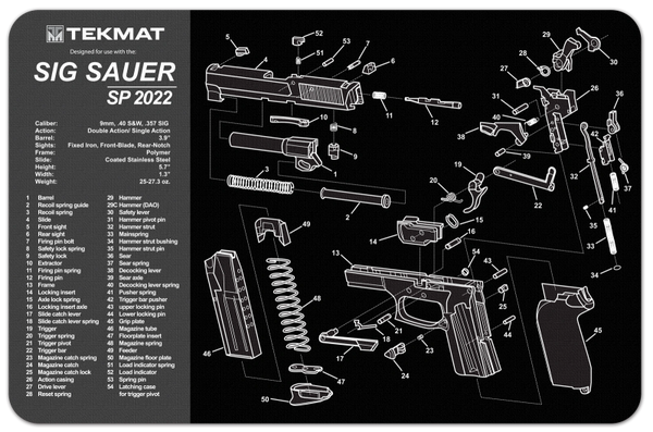 SIG SAUER SP2022 9mm PISTOL TEKMAT