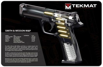 SMITH & WESSON M&P 9mm PISTOL TEKMAT CUT-AWAY