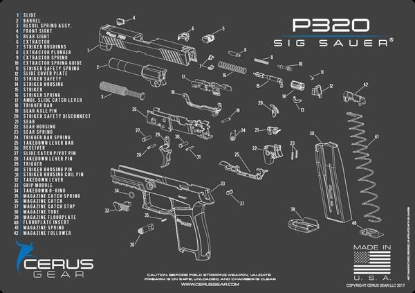 SIG SAUER® P320 SCHEMATIC PROMAT by CERUS GEAR