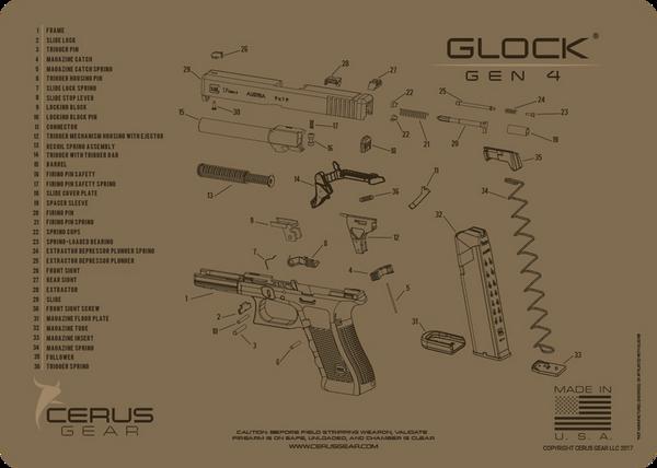GLOCK® GEN4 PISTOL SCHEMATIC PROMAT by CERUS GEAR