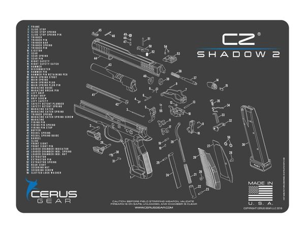 CZ SHADOW 2 - PISTOL SCHEMATIC PROMAT by CERUS GEAR