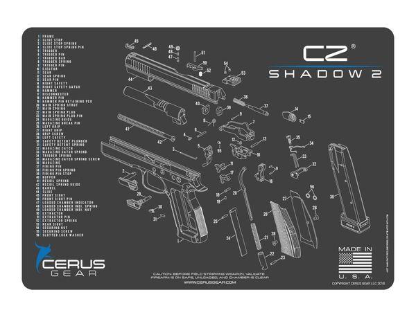 CZ SHADOW 2 - PISTOL SCHEMATIC PROMAT by CERUS GEAR
