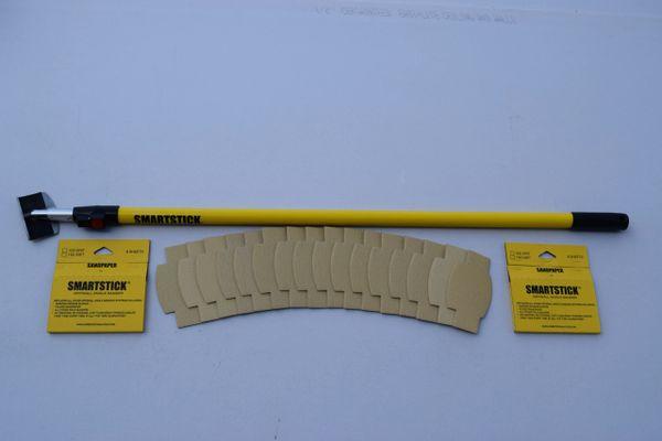 SMARTSTICK™ DRYWALL ANGLE SANDER (8 Pcs.100 Grit, 8 Pcs.150 Grit Sandpaper Included)