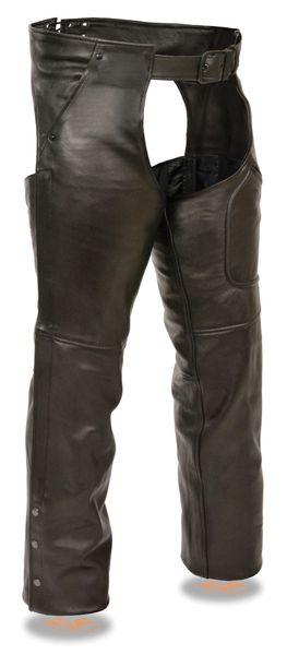 Mens Chaps w/ Cool Tec® Leather & Zippered Thigh Pockets