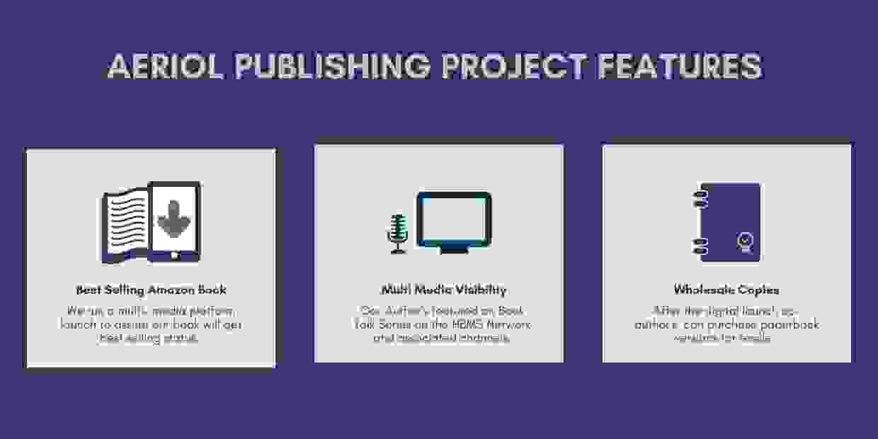 Best selling book publishing program features