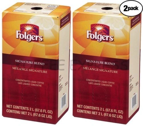 Folgers 2 Liter Signature Blend Liquid Coffee Concentrate (Two Boxes)