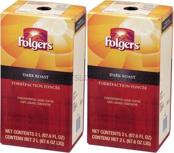 Folgers 2 Liter Dark Roast Liquid Coffee Concentrate (Two Boxes)