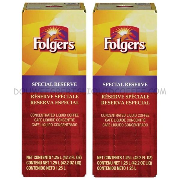 Folgers 1.25 Liter Special Reserve Liquid Coffee Concentrate (Two Boxes)