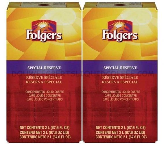 Folgers 2 Liter Special Reserve Liquid Coffee Concentrate (Two Boxes)