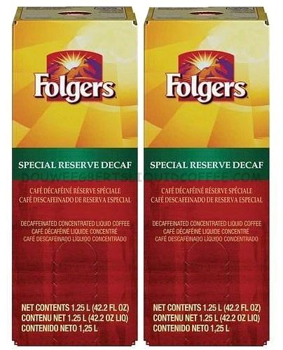 Folgers 1.25 Liter Special Reserve Decaf Liquid Coffee Concentrate (Two Boxes)