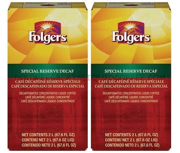 Folgers 2 Liter Special Reserve Decaf Liquid Coffee Concentrate (Two Boxes)