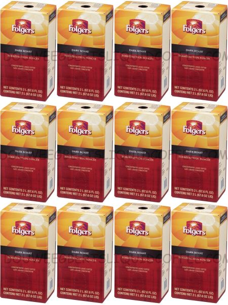 Folgers 2 Liter Dark Roast Liquid Coffee Concentrate (Twelve Boxes)