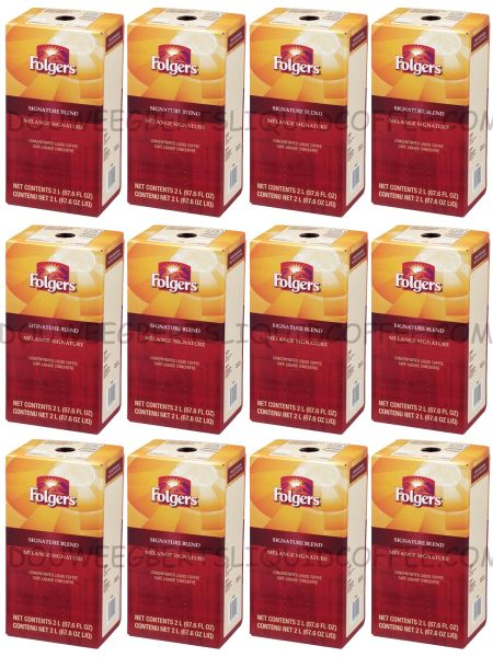 Folgers 2 Liter Signature Blend Liquid Coffee Concentrate (Twelve Boxes)