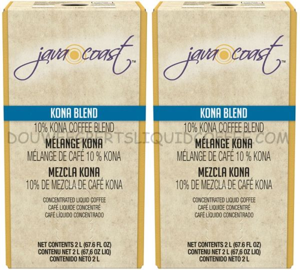 Java Coast 2 Liters Kona Blend (Two Boxes)