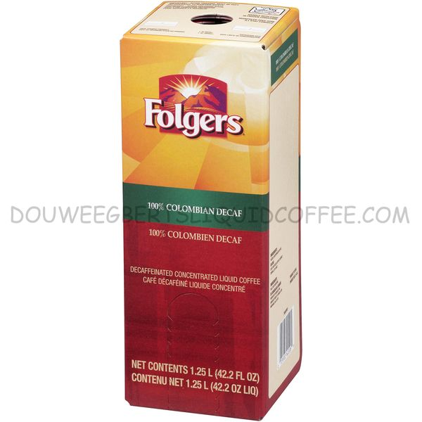 Folgers 1.25 Liter 100% Colombian Decaf Liquid Coffee Concentrate (One Box)