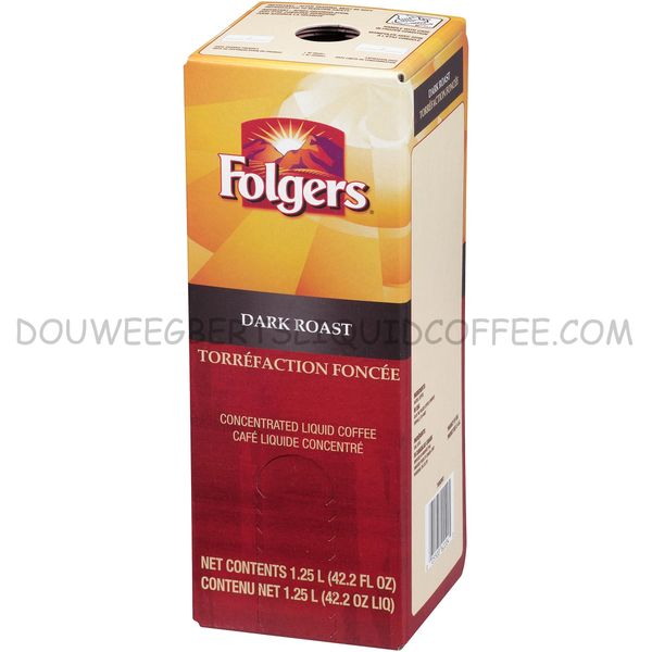 Folgers 1.25 Liter Dark Roast Liquid Coffee Concentrate (One Box)