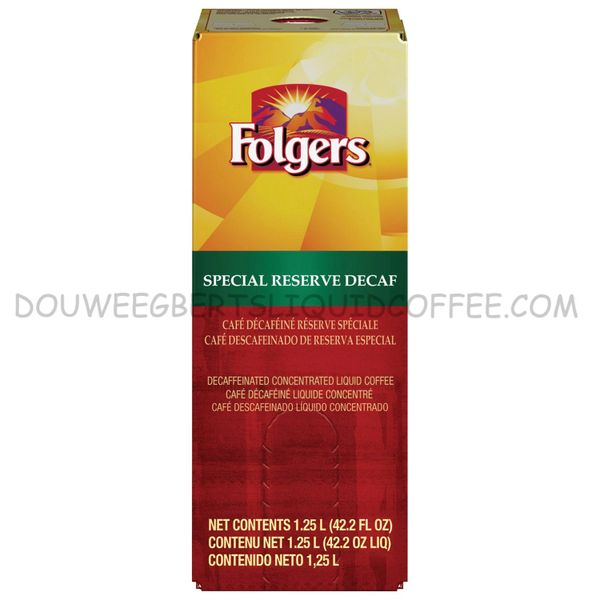 Folgers 1.25 Liter Special Reserve Decaf Liquid Coffee Concentrate (One Box)