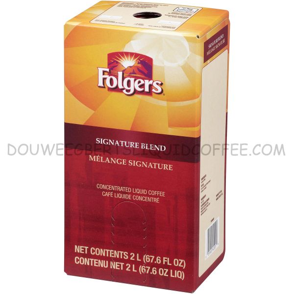 Folgers 2 Liter Signature Blend Liquid Coffee Concentrate (One Box)
