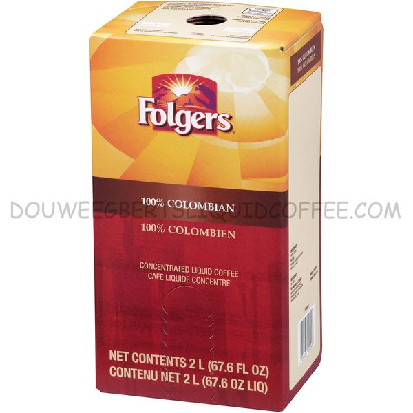 Folgers 2 Liter 100% Colombian Liquid Coffee Concentrate (One Box)