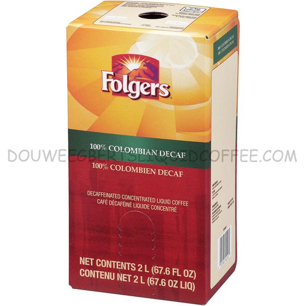 Folgers 2 Liter 100% Colombian Decaf Liquid Coffee Concentrate (One Box)