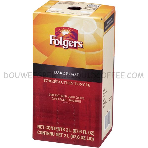 Folgers 2 Liter Dark Roast Liquid Coffee Concentrate (One Box)
