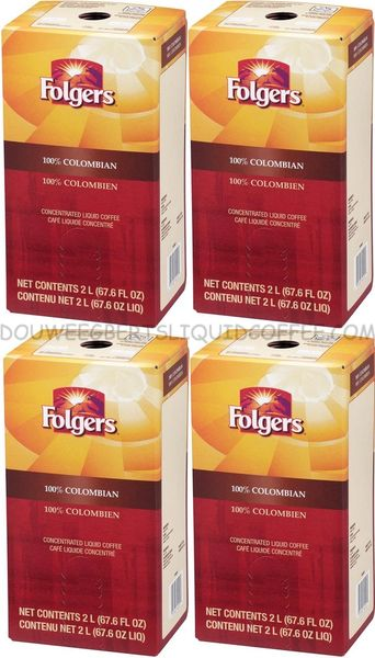 Folgers 2 Liter 100% Colombian Liquid Coffee Concentrate (Four Boxes)