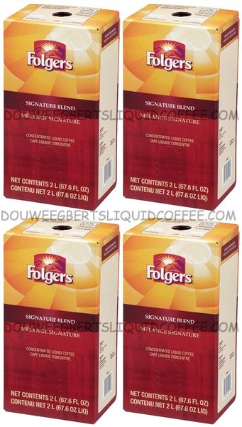 Folgers 2 Liter Signature Blend Liquid Coffee Concentrate (Four Boxes)