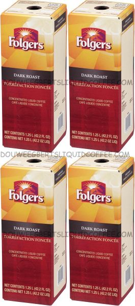 Folgers 1.25 Liter Dark Roast Liquid Coffee Concentrate (Four Boxes)