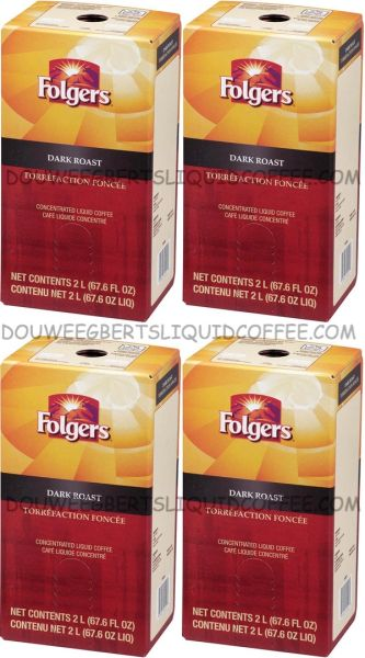 Folgers 2 Liter Dark Roast Liquid Coffee Concentrate (Four Boxes)