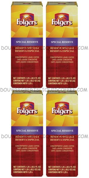 Folgers 1.25 Liter Special Reserve Liquid Coffee Concentrate (Four Boxes)