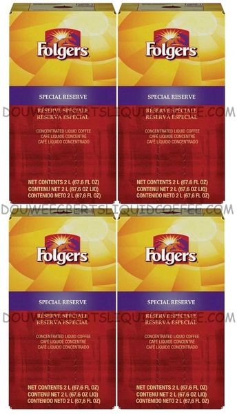Folgers 2 Liter Special Reserve Liquid Coffee Concentrate (Four Boxes)