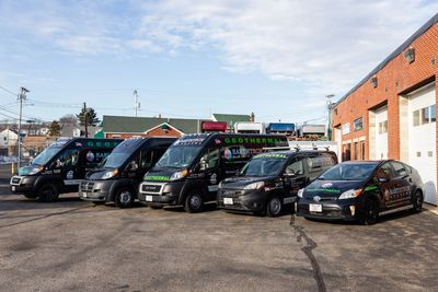 EarthTech Systems, heating and cooling contractors' vans