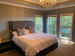 Luxury Sober Living in Nashville Tennessee - Master Bedroom Women's House.  Upscale Recovery House